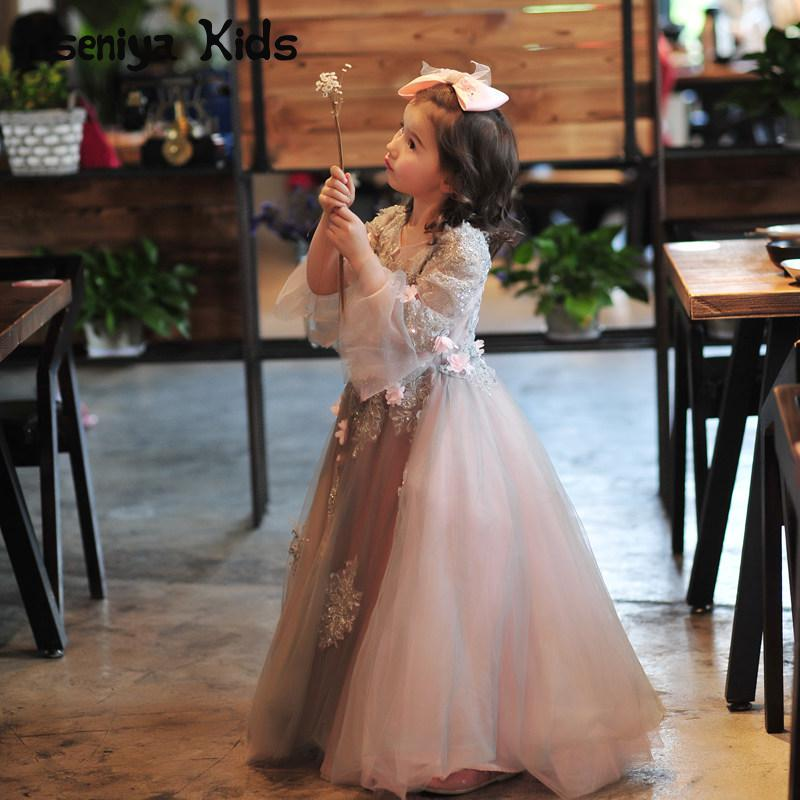 Kseniya Kids 2017 New Summer Girls Princess Tutu Dress A Stage Dress Children Flower Girl Formal Dresses For Party And Wedding girls dress 2017 new summer flower kids party dresses for wedding children s princess girl evening prom toddler beading clothes