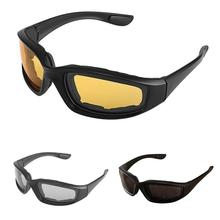 Moto rcycle Glasses Army 편광 선글라스 대 한 사냥 슛을 쏘고 Airsoft Eyewear Men 눈 Protection 방풍 moto Glasses(China)