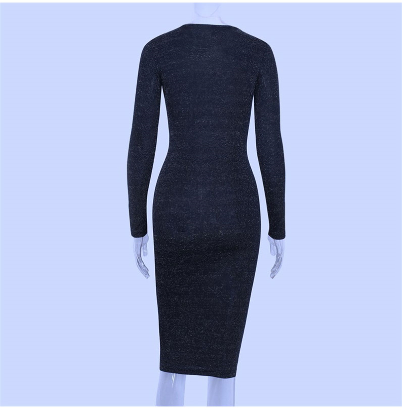 Shining Long Sleeve Midi Dress 8