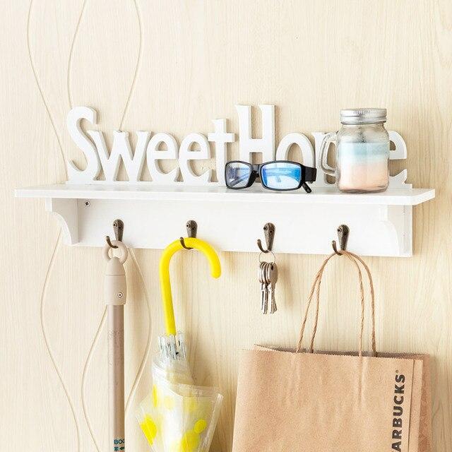 Wall Wood Baffle Hooks Coat Racks Creative Door Hanger Hanging Hangers Shelves