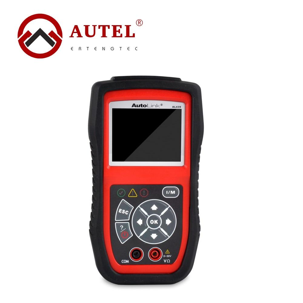 Autel Autolink AL439 OBD2 OBDII Auto MultiMeter AVOMeter Scanner Diagnostic Engine Code Scanner Electrical Test 2016 new arrival vs 890 obd2 car scanner scantool obdii code reader tester diagnostic tools 3 inch lcd car detector