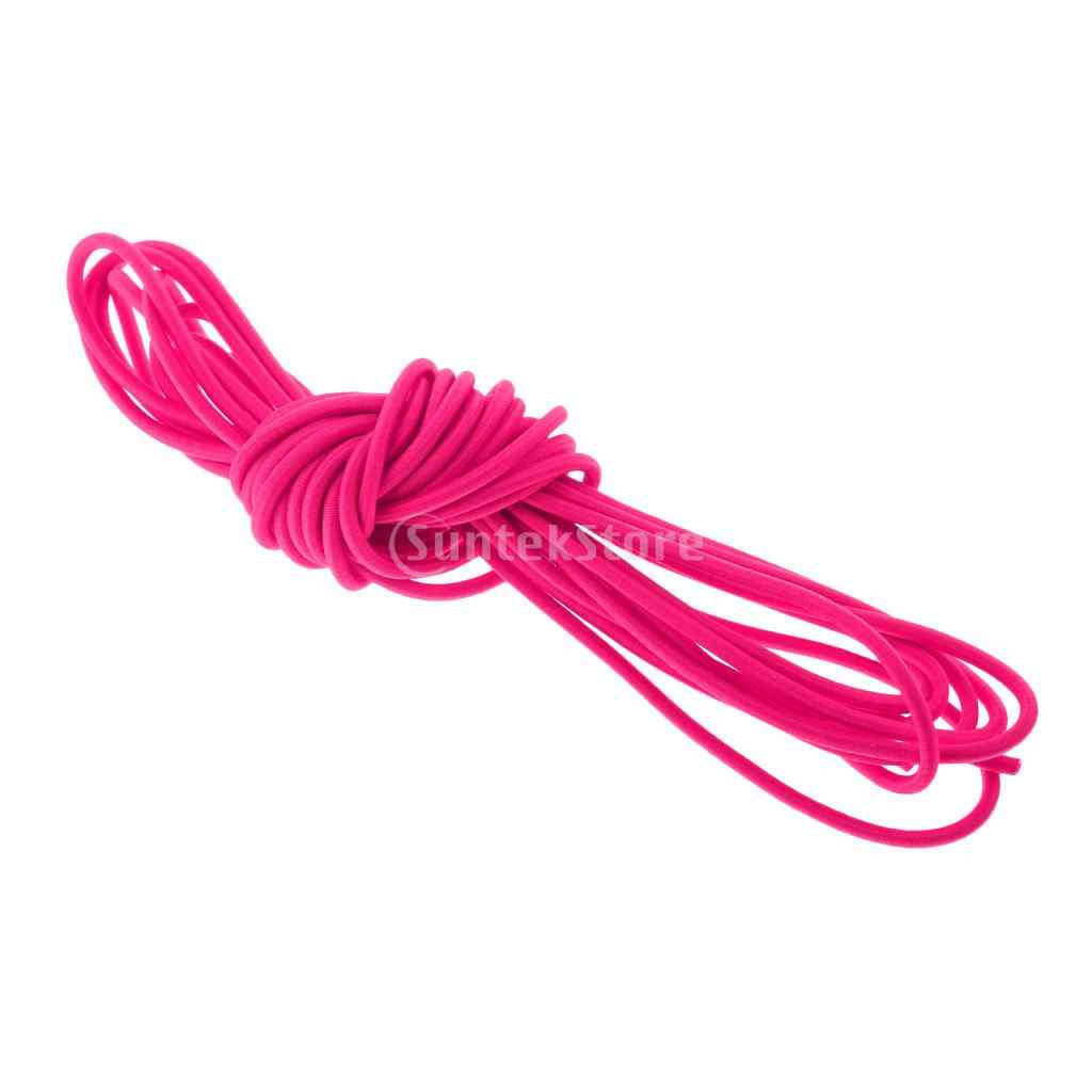 3mm x 0,5/1/2/5/10/20/30/50/100 m cuerda elástica cuerda de choque Kayak canoa barco remolque púrpura/rosa