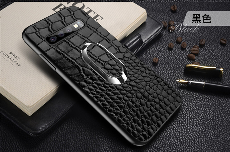 For Samsung Galaxy S10 Case Genuine Leather Armor Car Magnetic Ring Holder Cover For Samsung S10 Lite S10 Plus Case17