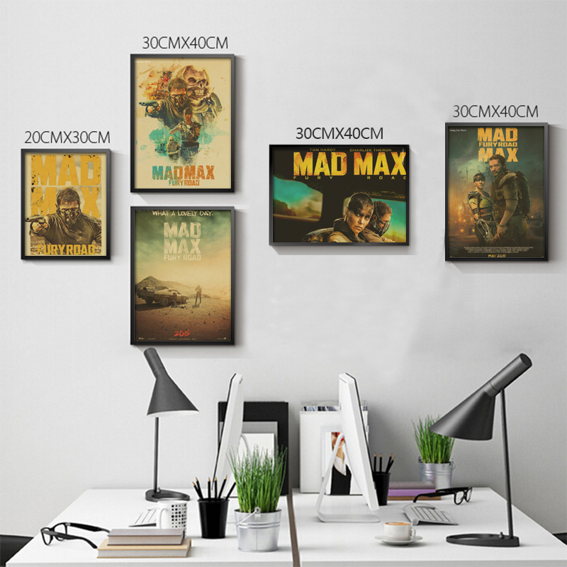 Mad Max movie retro Poster Retro Kraft Paper Bar Cafe Home Decor Painting Wall Sticker