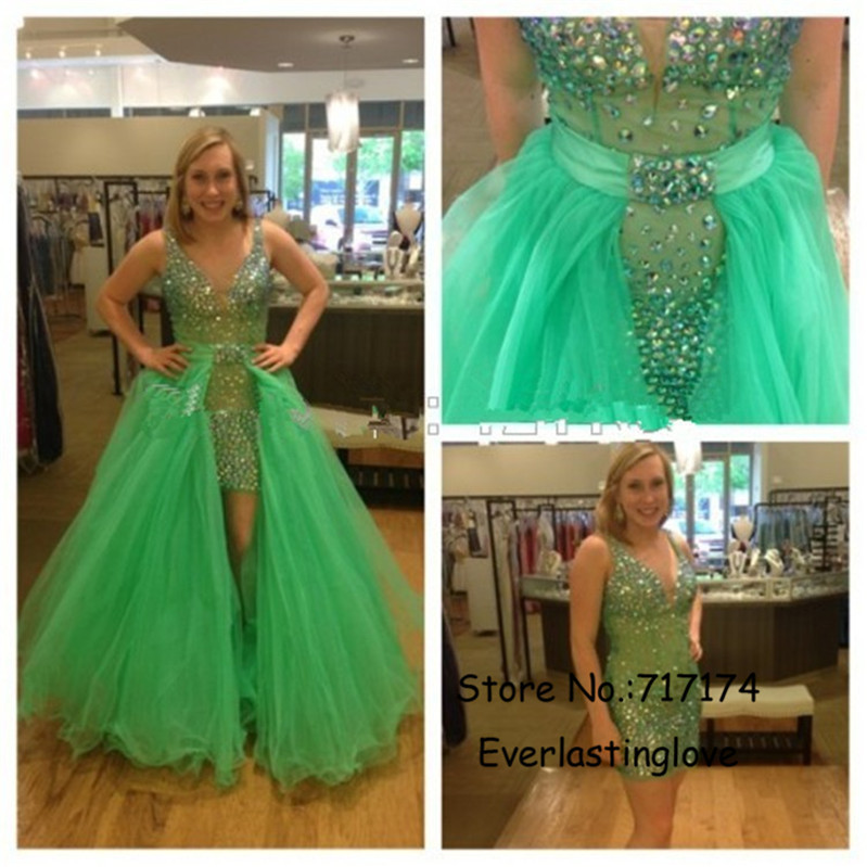 online buy wholesale green high low prom dress from china