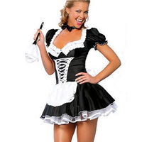 Dust Bunny Girl Costume Women French Maid Halloween Costume Party Dress Clothing