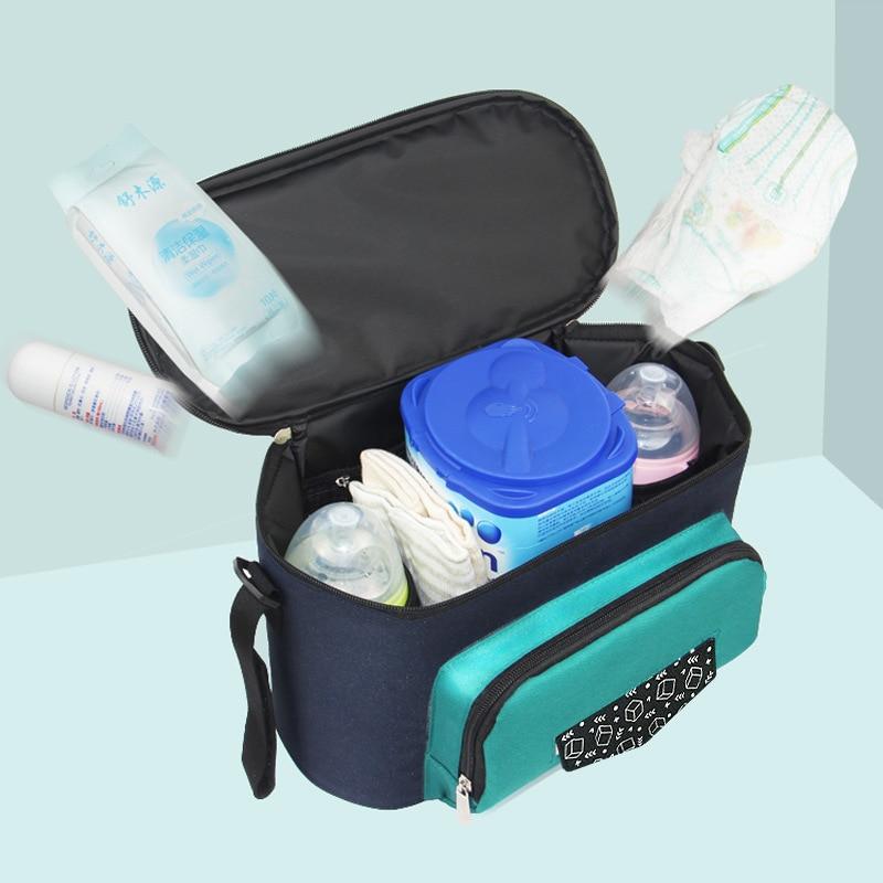 Baby-Stroller-Bag Diaper-Back Milk-Bag Insulation Large-Capacity Waterproof Maternal