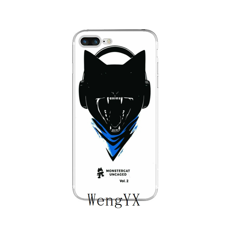 US $1 89 5% OFF fashion music Monstercat Slim silicone TPU Soft phone case  For iPhone X 8 8plus 7 7plus 6 6s plus 5 5s 5c SE 4 4s-in Half-wrapped