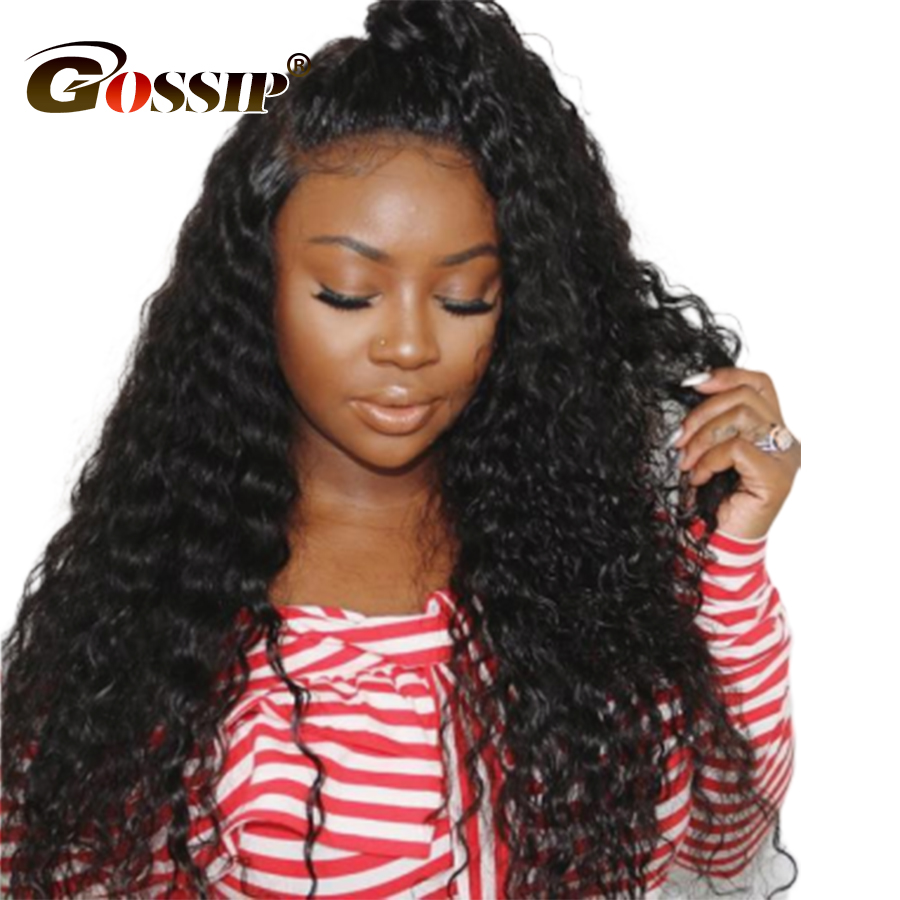 Gossip 180% Curly Human Hair Wigs 360 Lace Frontal Wigs Pre Plucked With Baby Hair Glueless Indian Wig Remy 13x6 Lace Front Wig