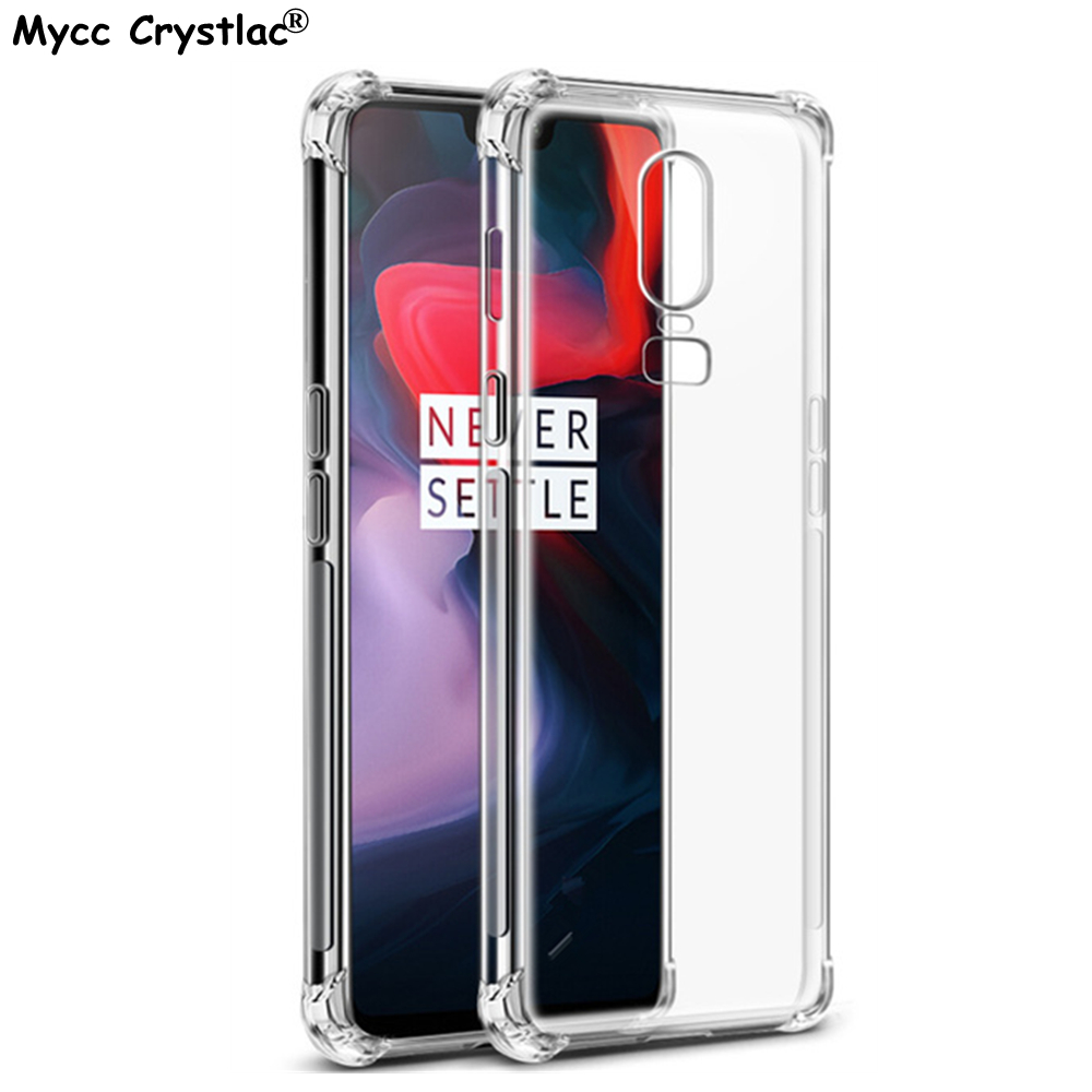 For Oneplus 3 3T 5 5T 6 Clear Air Cushion Soft Silicone Case For Oneplus 6 Oneplus6 3 3T 5 5T Cover Anti-knock Cover Cases