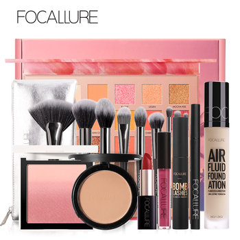 FOCALLURE Professional Makeup Set For Women include Eyeshadow Lipstick Brushes Blush Mascara Eyeliner Powder Cosmetics Set Beauty and Health Makeup and Sets