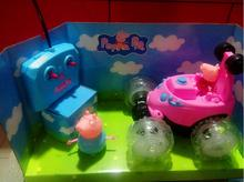 Pink Pigs Luxury Play Back Toys Car Playground Juguetes Pig Toys Action Figures Cerdo Family Children Boys Girls Children Gifts