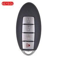 Keyecu anahtarsız gitmek akıllı uzaktan araba anahtarı 4 düğme Fob 433.92MHz ID47 çip Infiniti QX60 P/ n: s180144011