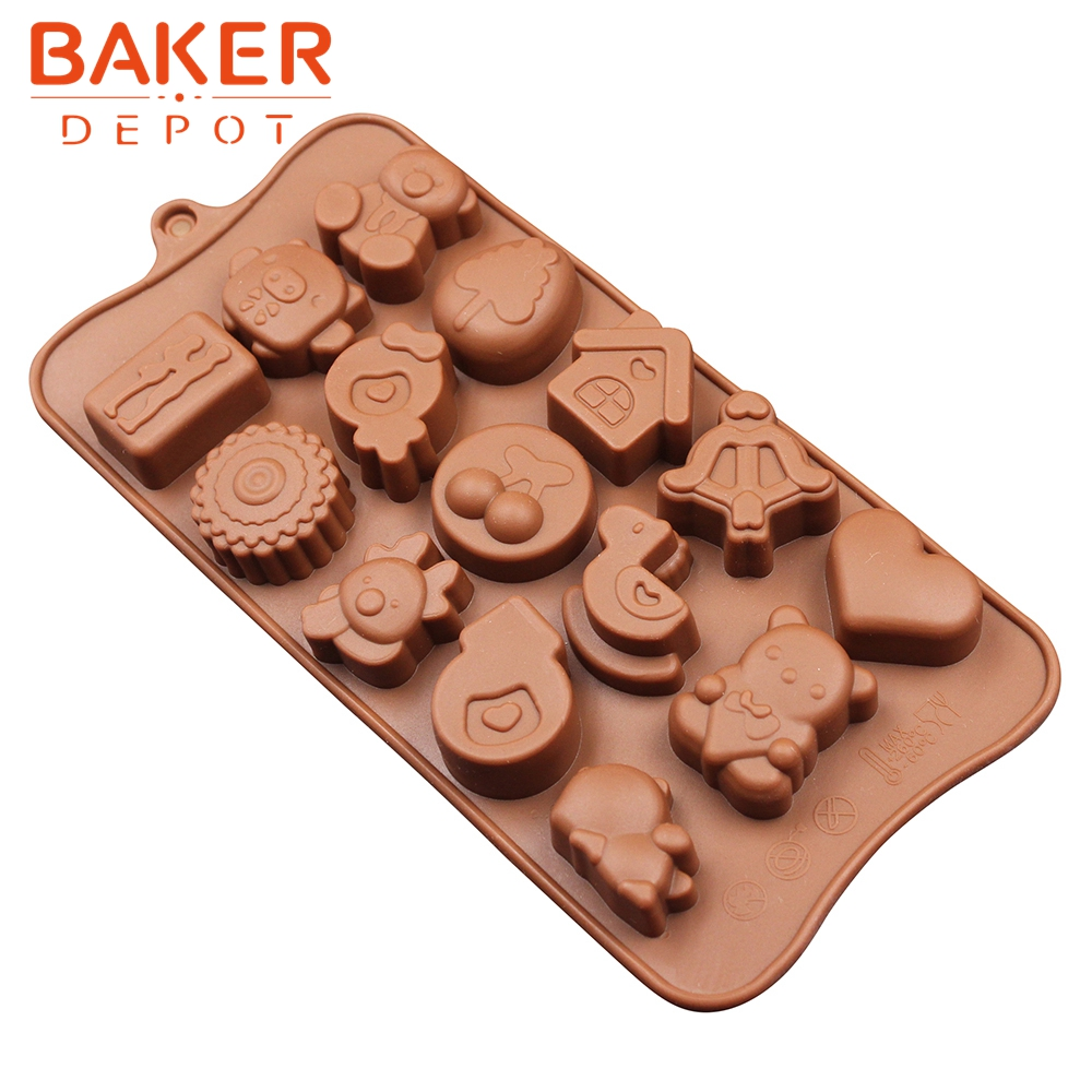 Happy Birthday Letters Silicone Fondant Mold Chocolate Mould Cake Decor Tool*IC