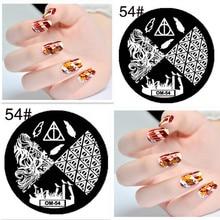 1PCS Flower Nail Art Stamp Template bird Design 5.5*5.5cm Round Image Plate Tool