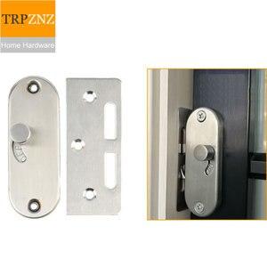 New design  Sliding door lock Vertical bolt latch Hook lock for wooden door  aluminum alloy door easy to install home hardware|Sliding Door Locks| |  -