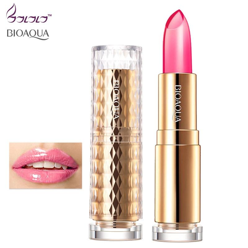 BIOAQUA moisture charm color waterproof jelly lipstick long Lasting moisturizing lip gloss not fade lip care lips makeup beauty 5