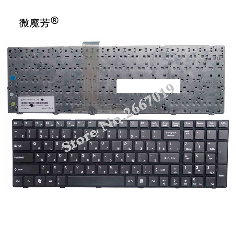 New Russian Keyboard for <font><b>MSI</b></font> GT680 GT680R GT683 GT683R GT685 GT685R <font><b>GE700</b></font> A6205 CX605 RU black laptop keyboard image