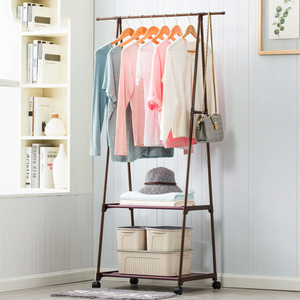 Image 2 - Multi function Triangle Coat Rack Removable Bedroom Hanging Clothes Rack With Wheels Floor Standing Coat Rack Clothes Hanger