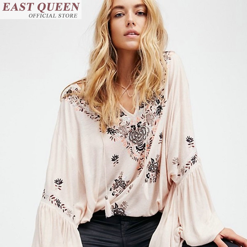 Hippie clothes women blouse woman hippie clothes boho chic blouse embroidered mexican ethnic blouse FF178 A