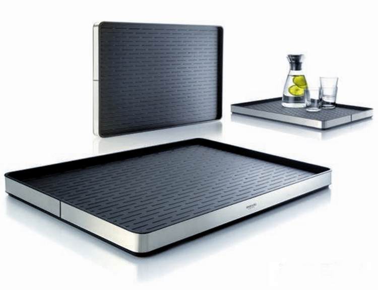 High grade rectangle stainless steel fashion Eva solo server tray fruit tray food plates tea dish coffee tray