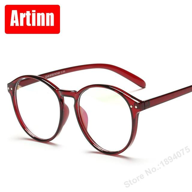 Round eyeglasses frame Classic black round box glasses simple ...