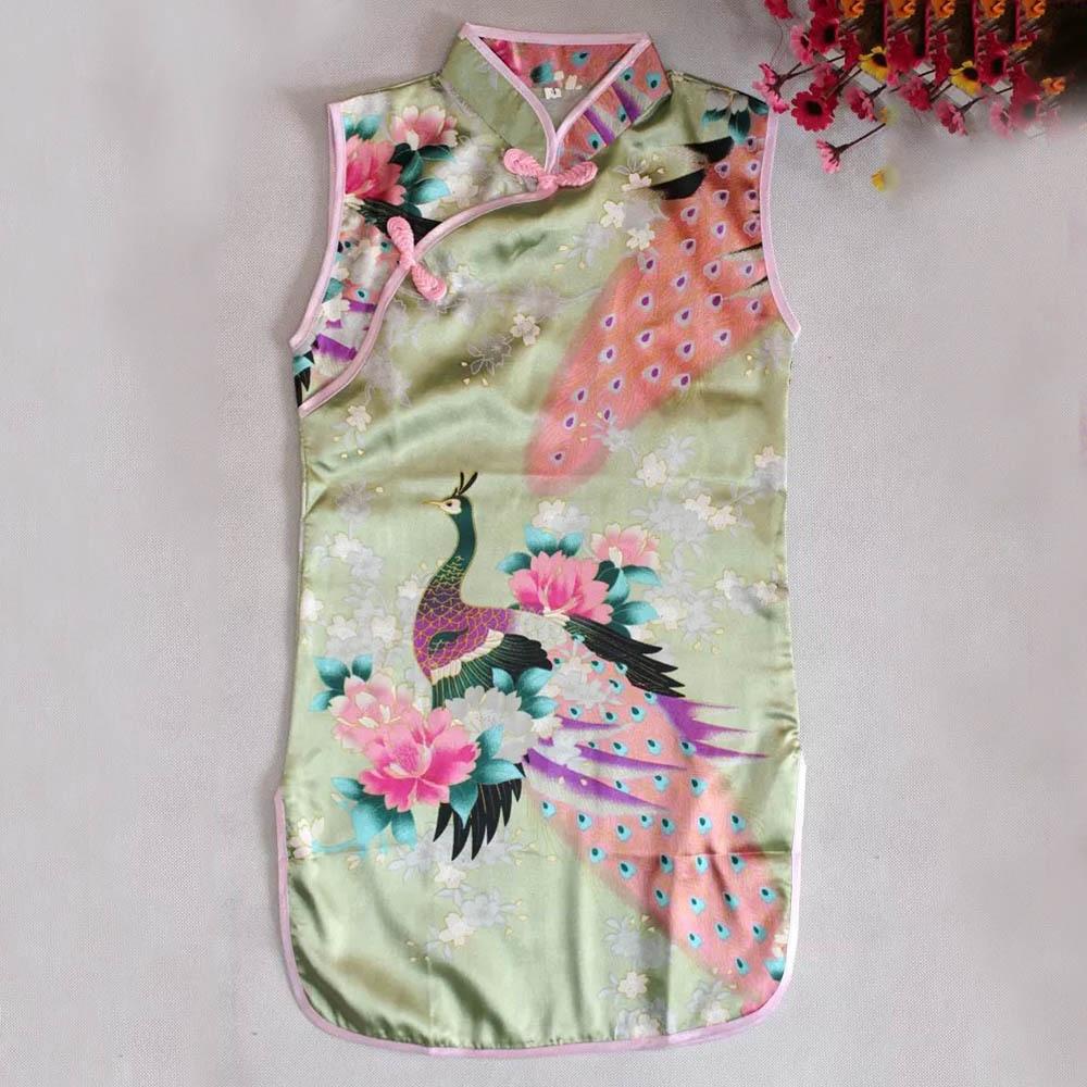 Russia Hot sale baby girl dress Chinese Cheongsam Dress for girls ...