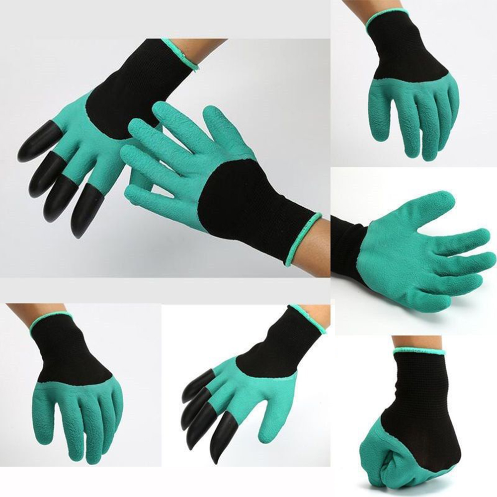 Black gardening gloves - Unisex Wome Men 4abs Plastic Claw Gardening Gloves For Digging Planting With Garden Glove Home Tool