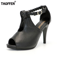 Size 30 43 Woman Ankle Strap High Heel Sandals New Arrival Hot Sale Fashion Office Summer