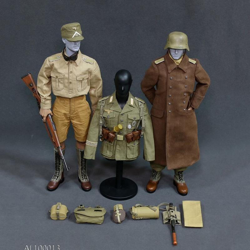 1/6 WWII Afrika Korpsthe Wehrmacht Suit Male Combat Clothes & Weapon Accessories for 12 inches Soldier Action Figure 1 6 soldier action figure the dark zone agent renegad with weapon model accessories full set collections