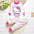 Детская одежда зима хлопка высокого качества 100% детские одежда для девочек набор 2 шт. прекрасный Мультфильм новорожденный мальчик одежды младенца набор bebes