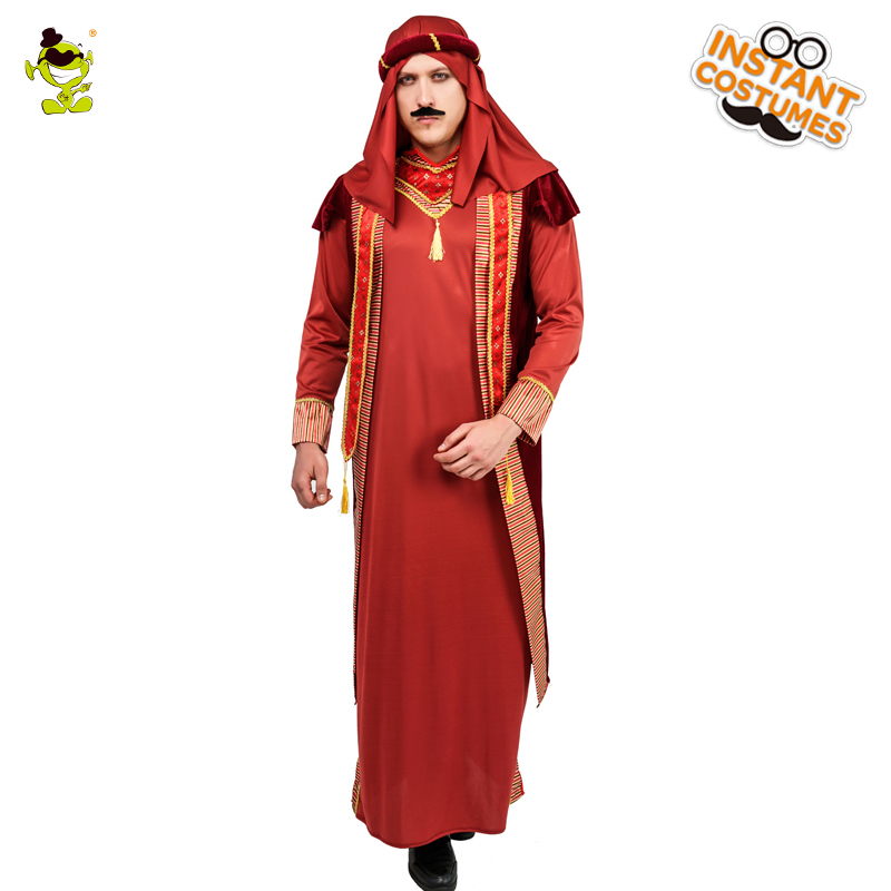 Men's  Arab Robe Arabian Prince Costume  Cosplay  Arab Prince King Purim Holiday  Men Stage Cosplay Arab Prince King Costumes