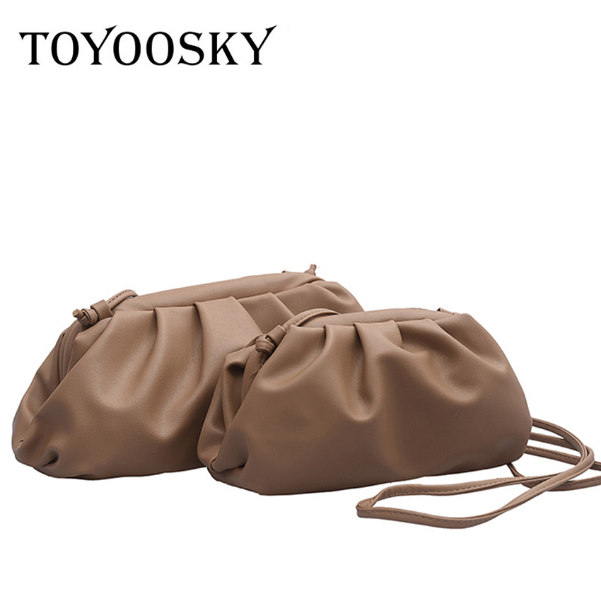 TOYOOSKY 2019 New High Quality Shoulder Bag Women Simple Solid Dumplings Package Ladies Personality Large Capacity Handbags