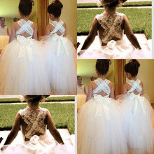 free shipping custom backless lace bow 2015 flower girl dresses for weddings party dress hot sale vestido de festa ball gown hot sale flower girl dresses for wedding white girl birthday party dress ankle length vestido de daminha mother daughter dresses