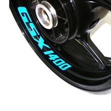 Autocollants de roue de moto réfléchissants, lot de 8 pièces, haute qualité, adaptés à SUZUKI GSX 1400 GSX1400