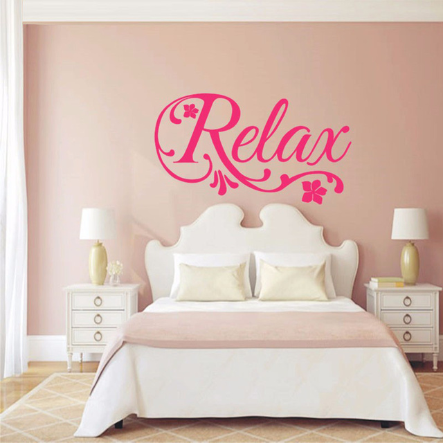 relax swirls flower decal art vinyl wall sticker home decor beauty salon spabedroom