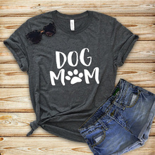 143cb6084 women t-shirt dog mom letter casual printed printing graphic tees shirt  female funny fashion