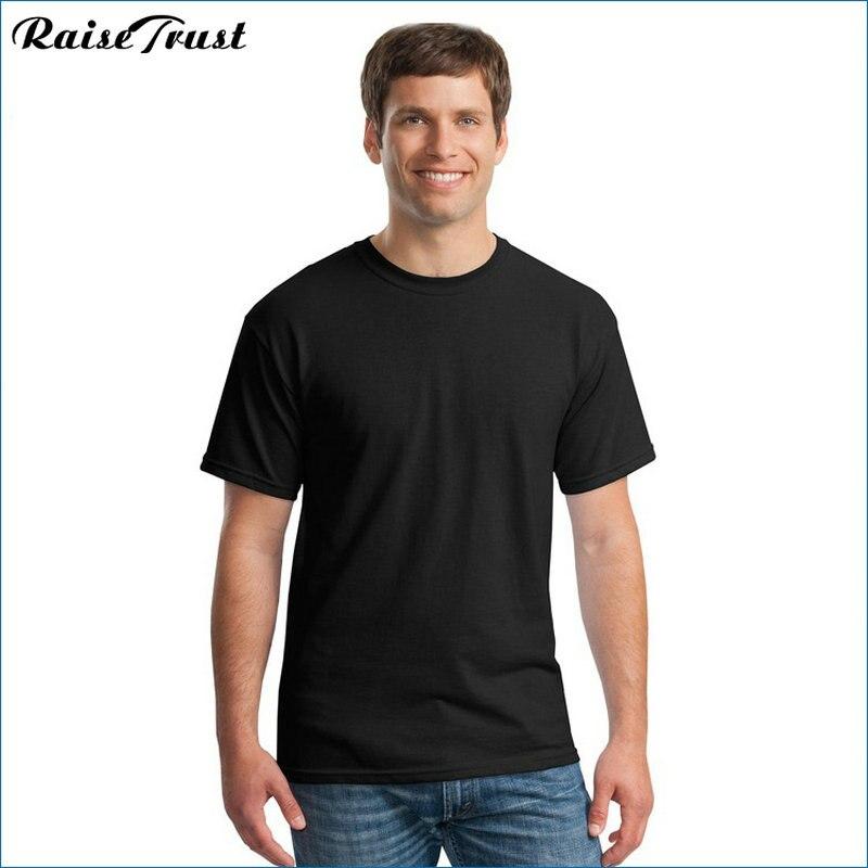 2019 Yeni Katı renk T Gömlek yaz Erkekler t gömlek kısa kollu - Erkek Giyim - Fotoğraf 2