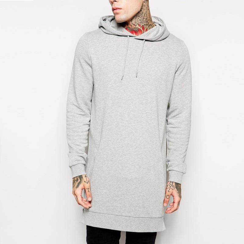 Men's hooded casual shirt new streetwear hip hop men's pullover brand hoodie fashion long hoodie hip hop jacket