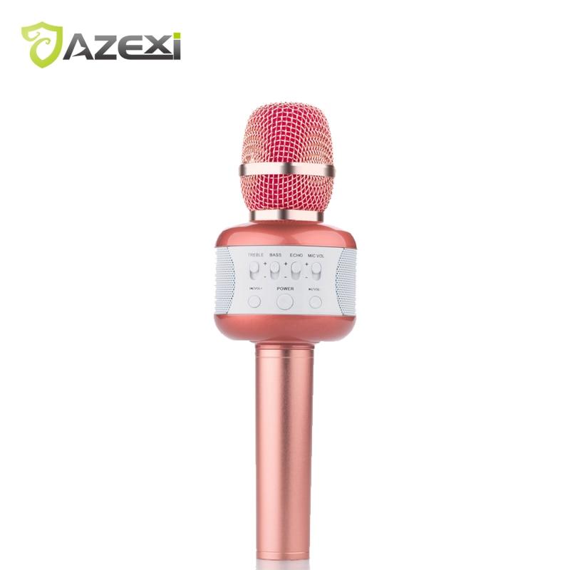 все цены на New Style E106 Wireless Bluetooth Karaoke Microphone AUX 3.5mm Mini speaker suppport USB disk noise reduction Record for iPad онлайн