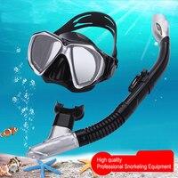 Brand Thenice Professional Snorkeling Set Kit Equipment Full Dry Snorkel Anti Fog Scuba Diving Mask Glasses
