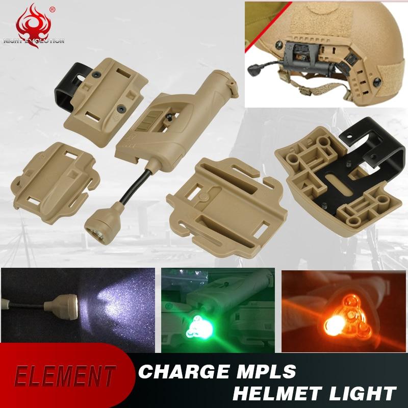 Night Evolution MPLS 2 Modular Personal Lighting System Helmet LED BK RED IR