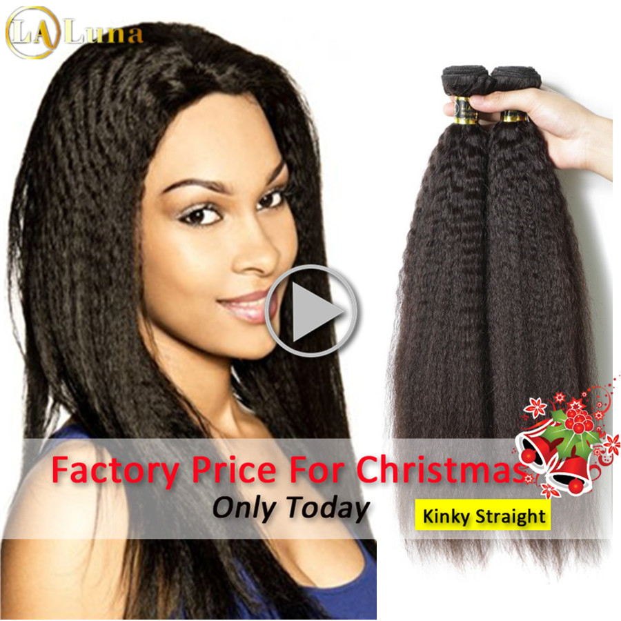 Straight perm damage - 7a Unprocessed Mongolian Light Yaki Straight Hair Weave 2 Bundles Mongolian Virgin Human Hair Straight Permed