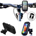 2016 Waterproof 5.5 inch Universal Bicycle Bike Motorcycle Handlebar Phone Mount Holder Case For iphone 6 Plus Samsung S7 Edge