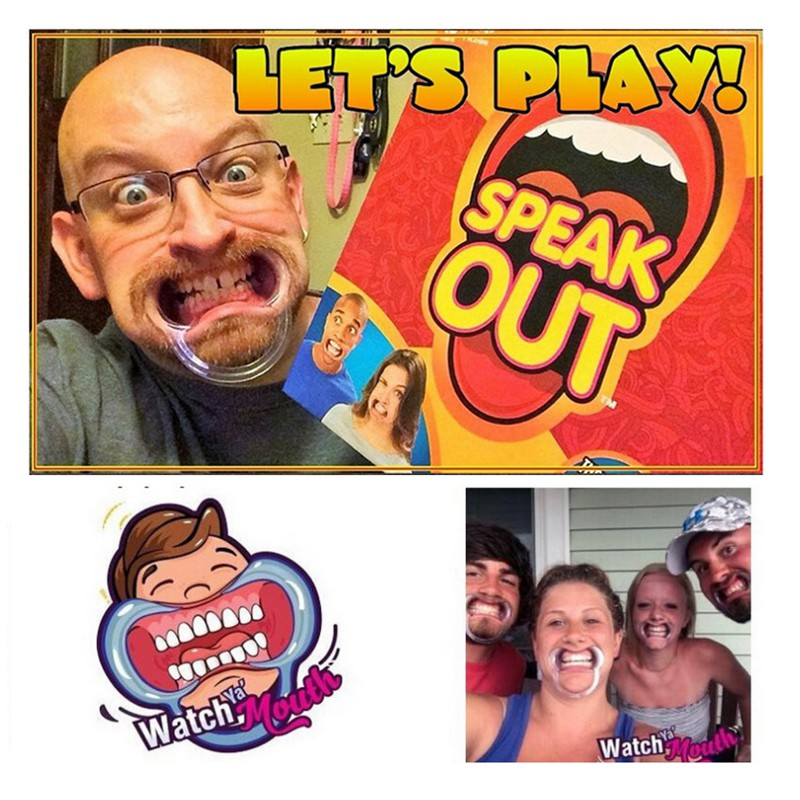 Speak Out Board Game Mouthguard Ridiculous Challenge Game Home Family funny Toy Christmas Birthday Gift New in Box