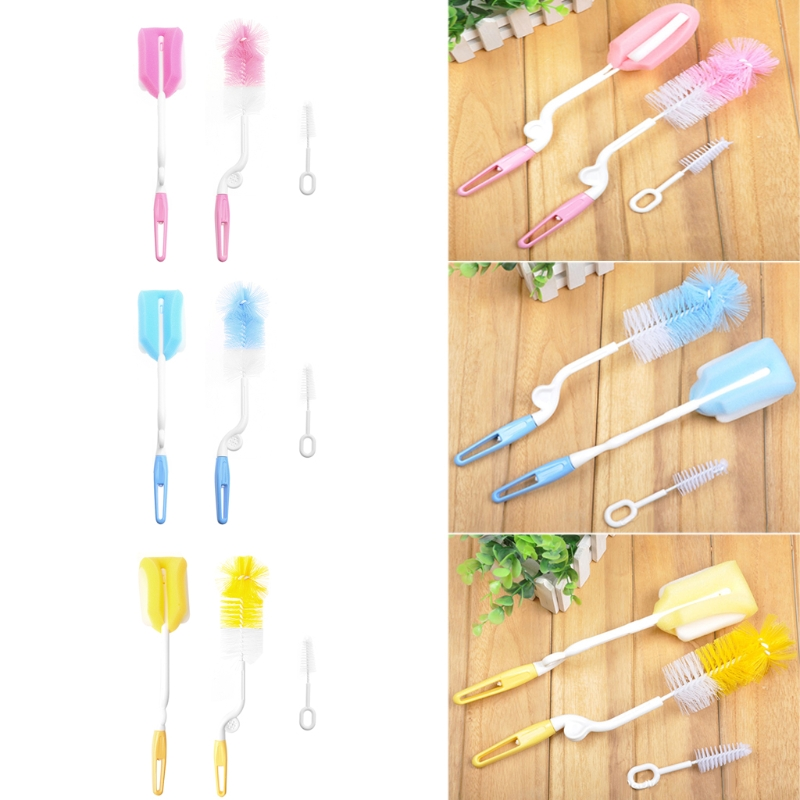 1Set Baby Milk Bottle Nipple Cleaning Brush Cleaner Teapot Nozzle Spout Tube Cleaning Kit Random delivery