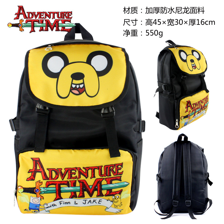 Adventure Time Backpack Anime Bag teenagers Men women's Student Cartoon School Bags travel Backpacks Computer Bag anime tokyo ghoul cosplay anime shoulder bag male and female middle school student travel leisure backpack