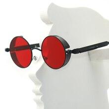 Steampunk Round Metal Sun glasses for Men Women Fashion Brand Designer Retro Vintage Sunglasses high quality UV400 oculos de sol