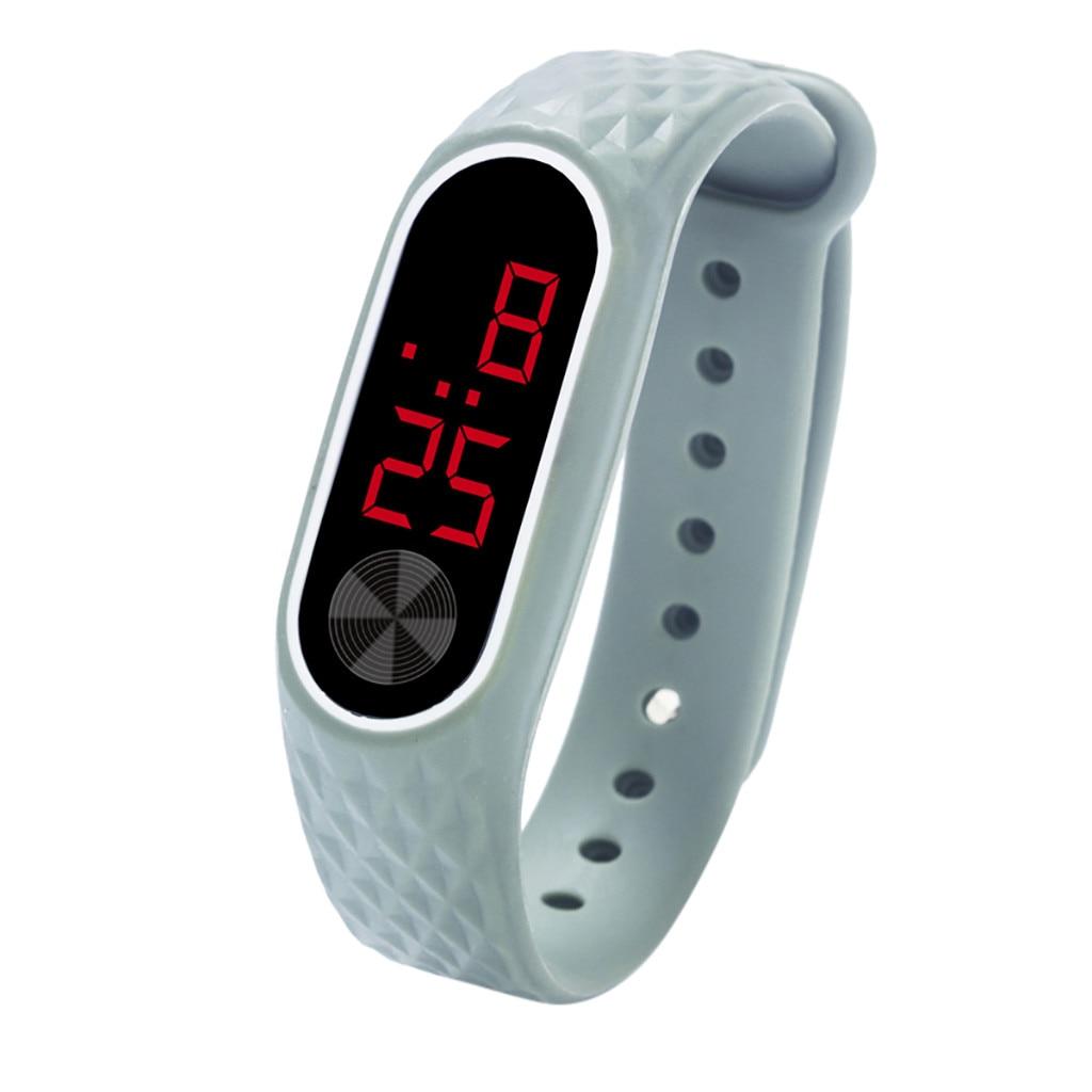 Watch Bracelet Display Sports-Wristwatches Digital Electronic Men's LED Silica-Gel