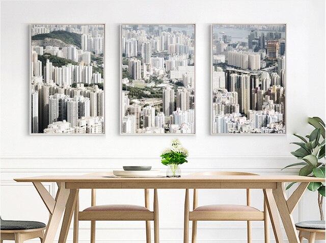 Moderne decoratieve schilderijen korte stedelijke architectuur mooie